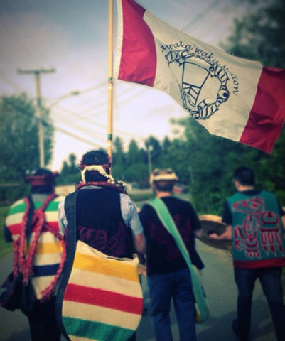 Kwakiutl First Nation marches to protect the spirit and intent of Treaty (CNW Group/Kwakiutl First Nation)