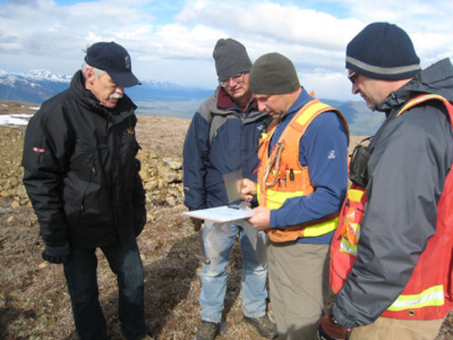 Driven Capital's technical team at the White River Project. L-R: Lindsay Bottomer, Peter Kurisoo, Bill Wengzynowski, Jay Timmerman. (CNW Group/Driven Capital Corp.)