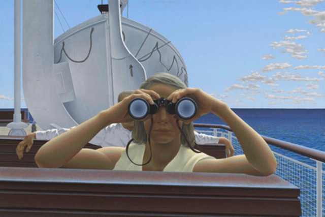 Alex Colville, To Prince Edward Island, 1965. National Gallery of Canada, Ottawa. Photo © NGC (CNW Group/National Gallery of Canada)