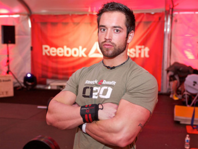 Rich Froning Jr., Fittest Man on Earth, at the Reebok CrossFit launch today in Toronto. (CNW Group/CNW Broadcast Services)