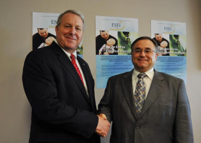 ESFI Chair, David Tallman and ESFI-Canada Chair, Peter Marcucci launch ESFI-Canada (CNW Group/Electrical Safety Foundation International (ESFI) - Canada)