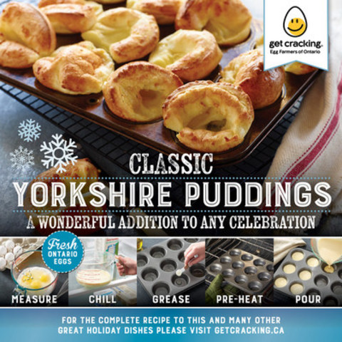Classic Yorkshire Pudding – A wonderful addition to any holiday celebration. (CNW Group/Egg Farmers of Ontario)
