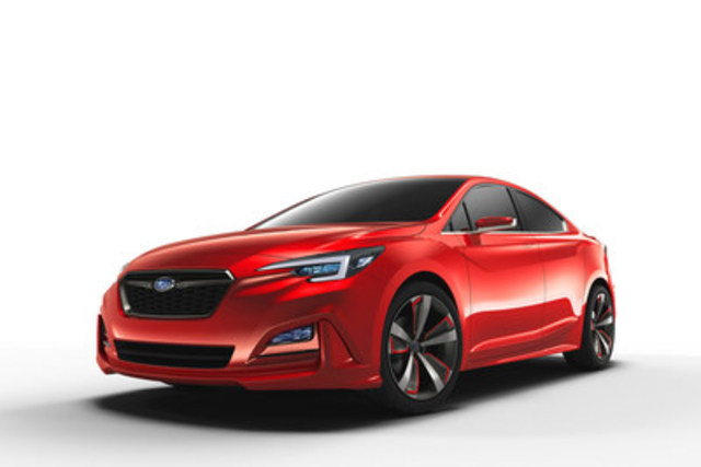 The Subaru Impreza Sedan Concept makes its world debut at the 2015 Los Angeles Auto Show. (CNW Group/Subaru Canada Inc.)