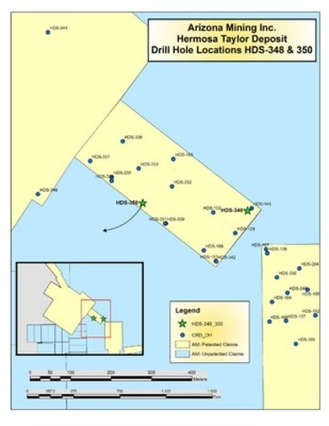 Drill Location Map (CNW Group/Arizona Mining Inc.)