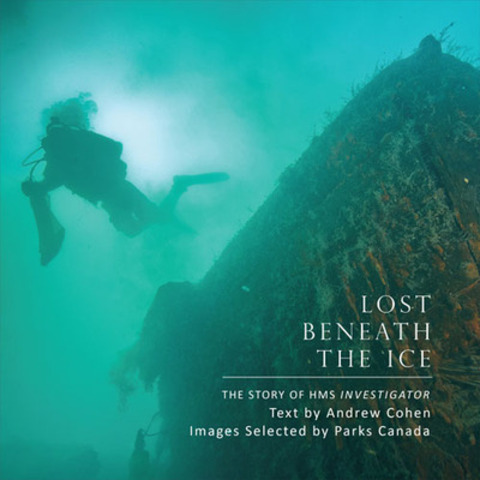 The book offers a beautiful rendition of images of the crew from HMS Investigator with stunning photos of Parks Canada underwater archaeologists exploring the historic wreck. The text tells the story of HMS Investigator and its significance to early arctic exploration. (CNW Group/Parks Canada)