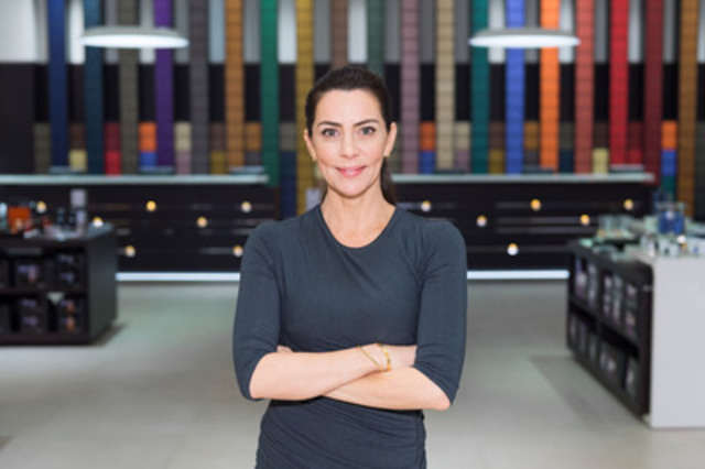On October 29, 2013 in Toronto, Shereen Arazm of Top Chef Canada and Nespresso Canada officially opened the brand's 14,000 sq ft. Toronto Flagship Boutique Bar in the prestigious neighbourhood, Yorkville. (Photo: JJ Thompson) (CNW Group/Nespresso Canada)