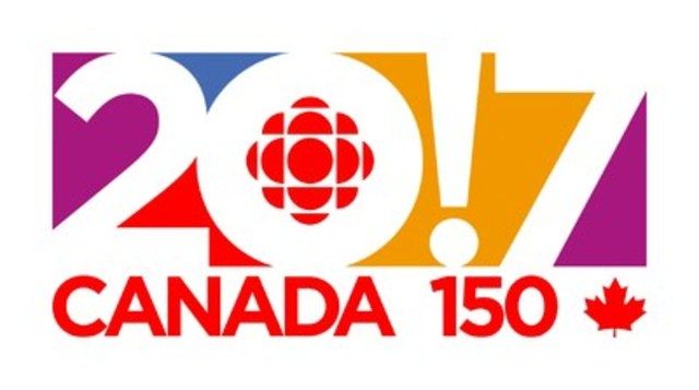 Logo: CBC/Radio-Canada celebrates Canada 150 in 2017 (CNW Group/CBC/Radio-Canada)