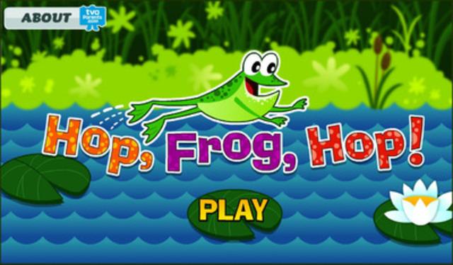 TVOKids' new free kids app Hop, Frog, Hop! (CNW Group/TVO)