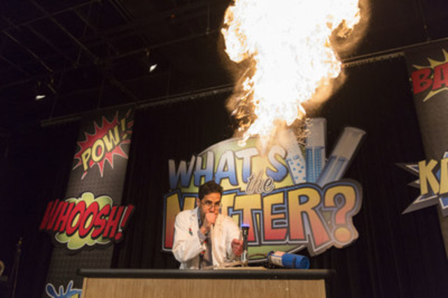 March Break heats up at the Ontario Science Centre with an explosive exploration of solids, liquids and gases during daily What's The Matter demos (CNW Group/Ontario Science Centre)