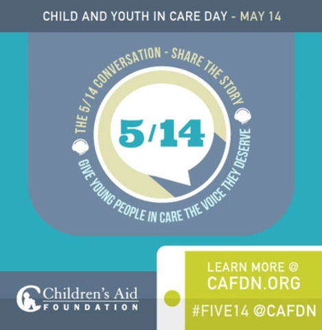 Join the #five14 conversation today in support of children and youth in care. (CNW Group/Children's Aid Foundation)
