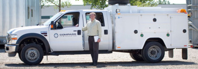 Compass Compression adds service trucks and manpower to their service division. (CNW Group/Compass Compression Services Ltd.)