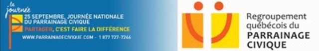 25 septembre, journée Québécoise du parrainage civique (Groupe CNW/Regroupement québécois du parrainage civique)