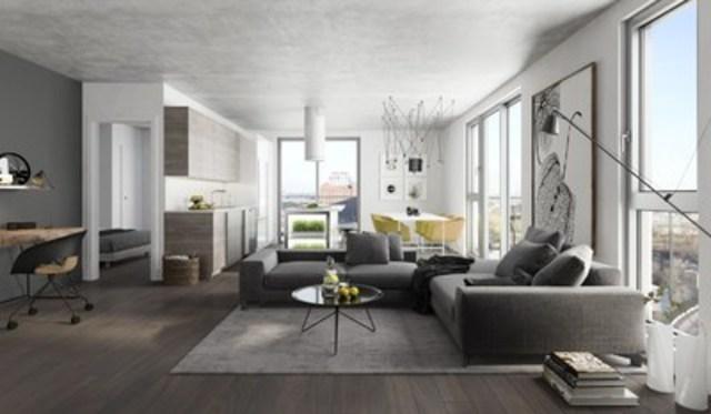 Ancré dans une vision moderne où se juxtaposent éléments naturels, matériaux bruts et design novateur, Éléments Condominiums offre des espaces de vie exceptionnels d'une à deux chambres. (Groupe CNW/Devimco Immobilier)