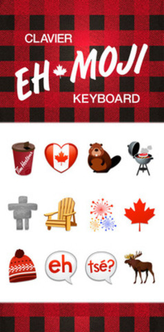 Tim Hortons introduces Canada's own EHmoji keyboard, featuring 12 quintessential Canadian images, now available for download at the App Store. Use #TextLikeaCanadian to tell Tim Hortons what should be added to the keyboard. (CNW Group/Tim Hortons)
