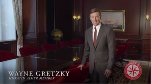 Wayne Gretzky Horatio Alger member (CNW Group/Horatio Alger Association of Canada)