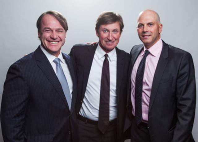 (from left to right) Sylvain Brosseau, President and Chief Operating Officer, Fiera Capital Corporation, Wayne Gretzky and Paul Vaillancourt, Senior Vice President and Managing Director, Private Wealth - Western Canada, Fiera Capital Corporation (CNW Group/Fiera Capital Corporation)