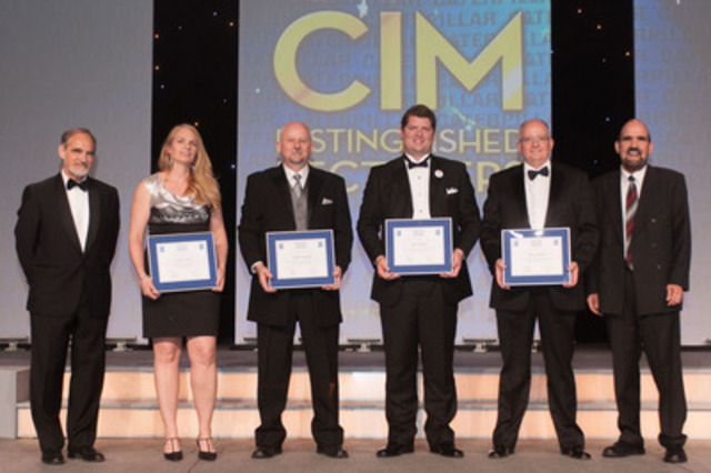 From left to right: Chris-Twigge-Molecey, Janice Zinck, Joseph Ringwald, Ben Chalmers, Ross Gallinger, Peter Edmunds. (CNW Group/Canadian Institute of Mining, Metallurgy and Petroleum (CIM))