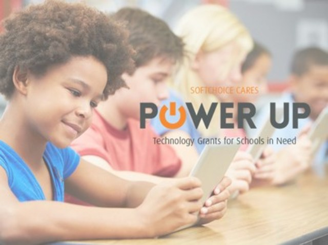 Softchoice and Lenovo are pleased to announce the launch of POWER UP, a technology grant program for schools in need. (CNW Group/Softchoice Corporation)
