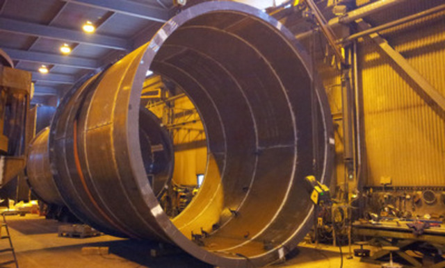 SAG Mill, in fabrication (CNW Group/Endeavour Mining Corporation)
