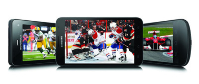Bell announces its most exciting Mobile TV sports lineup including the NHL All-Star Game and Super Bowl XLVI (CNW Group/BELL CANADA)