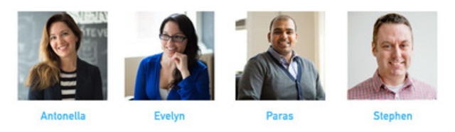 Meet the newest Blueband staff members: Antonella, Evelyn, Paras, Stephen. (CNW Group/Blueband Brand + Digital)