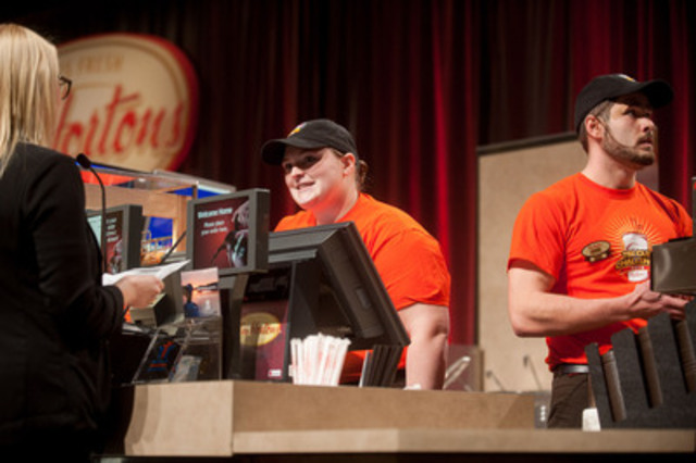 """Tim Hortons team from St. John's, Newfoundland competes at the Tim Cup Challenge yesterday in Ottawa. The """"Pat-Nots"""" beat out nearly 1,300 participating restaurants and were crowned the ultimate hospitality champions. (CNW Group/Tim Hortons)"""