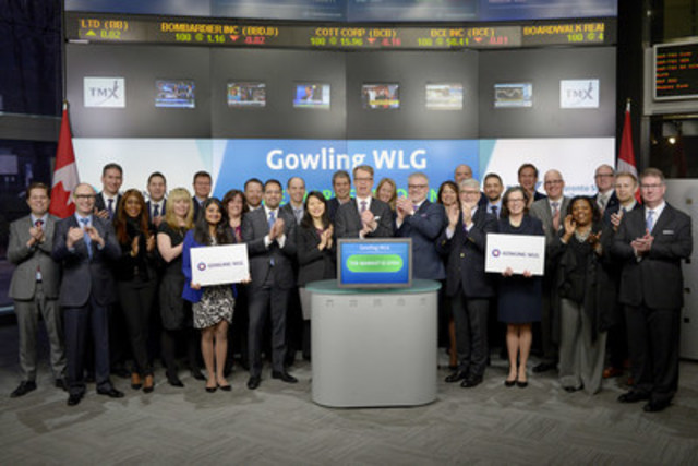 Peter Lukasiewicz, Chief Executive Officer, Gowling WLG, joined Richard Rohan, VP Corporate Sales, TMX Equity Transfer Services to open the market. Gowling WLG is a new international law firm created by the combination of Gowlings, a Canadian law firm, and Wragge Lawrence Graham & Co (WLG), a UK-based international law firm. With more than 1,400 legal professionals in 18 cities across Canada, the UK, Continental Europe, the Middle East and Asia, Gowling WLG provides clients with legal advice at home and abroad in a range of areas – from cross-border transactions and intellectual property matters to litigation and disputes. For more information please visit www.gowlingwlg.com. (CNW Group/TMX Group Limited)