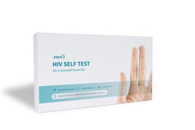 With one drop of blood, the INSTI HIV Self Test is simple to use and over 99% accurate. (CNW Group/bioLytical Laboratories)