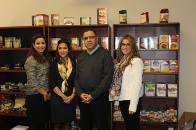 Zineb, Yousra, Majid et Houda Jamaleddine des Produits Zinda. (Groupe CNW/Fonds de solidarité FTQ)