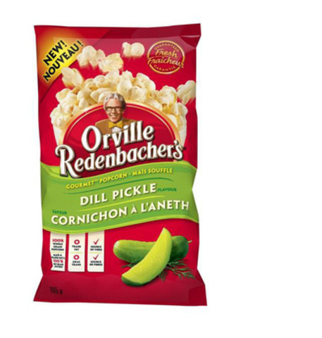 Orville Redenbacher's new ready to eat, Dill Pickle Gourmet Popcorn (CNW Group/ConAgra Foods, Inc.)