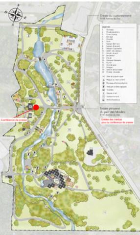 Plan parc des Moulins (Groupe CNW/Commission de la capitale nationale du Québec (CCNQ))