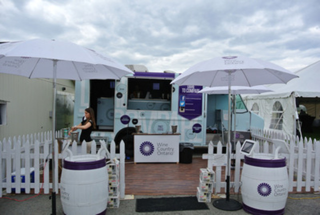 A Day in the life of the Wine Country Ontario VQA Mobile Wine Truck - Summer Tour (CNW Group/Wine Country Ontario)