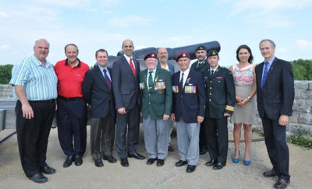 Le ministre Blaney a annonce l'octroi d'une aide financière pouvant atteindre 19,300$ pour la tenue du Concert au crépuscule au lieu historique national des Forts-de-Lévis. (Groupe CNW/Anciens Combattants Canada)
