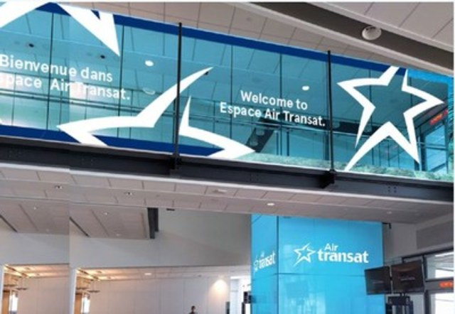 Transat and Aéroports de Montréal unveil Espace Air Transat (CNW Group/Air Transat)