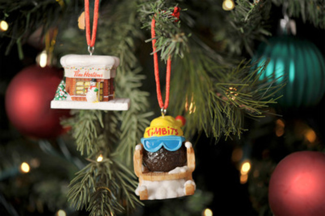 Tim Hortons ornaments are now available for $5.95 each. Choose from our Miniature Restaurant or Timbit on a Sled ornaments, or get them both! (CNW Group/Tim Hortons Inc.)