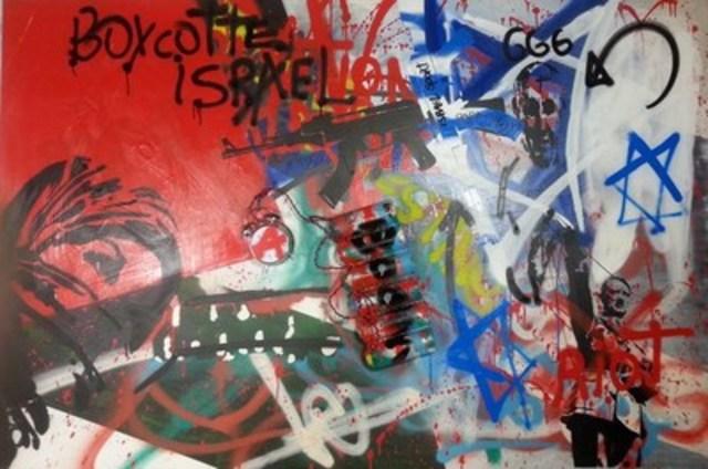 Premier artiste peintre montréalais a joindre le Boycotte d'Israël (Groupe CNW/BORIS ARTISTE CONTEMPORAIN)