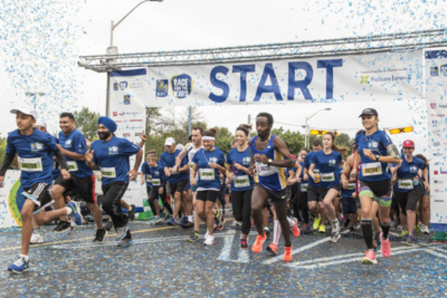 Participants of the 4th annual RBC Race for the Kids walked and ran to show their support for youth mental health. (CNW Group/Sunnybrook Health Sciences Centre)