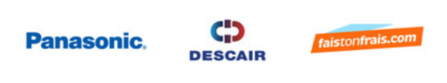 Panasonic, Descair, Faistonfrais.com (Groupe CNW/Solo Communications Marketing) (Groupe CNW/Descair)