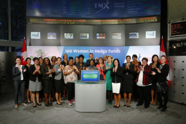 Jessica Clark-Barrow, 100 Women in Hedge Funds (WHF) joined Peter Conroy, President, Shorcan Brokers Limited to open the market. 100 Women in Hedge Funds was founded in 2001 and is a global association of more than 12,000 professional women . Through the volunteer efforts of the members, the association offers the community educational programming, professional leverage initiatives and philanthropy. For more information please visit www.100womeninhedgefunds.org/pages/index.php (CNW Group/TMX Group Limited)