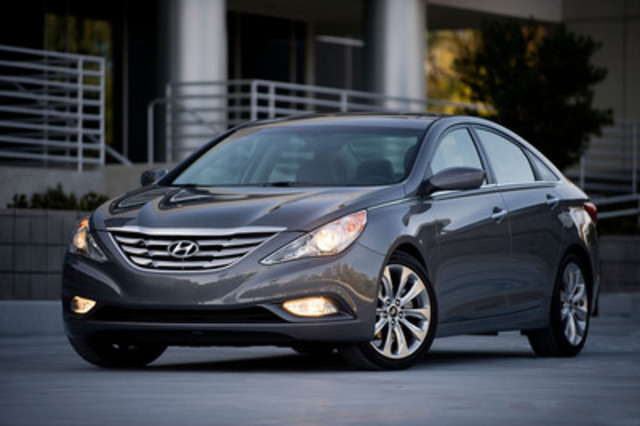 "Hyundai Auto Canada Corp. is launching a new ""Hyundai Promise"" initiative that gives customers of its Sonata sedan up to 30 days to return the vehicle and get their money back (without a usage or penalty fee) and extending the Sonata's warranty to 7-years or 120,000 km. (CNW Group/Hyundai Auto Canada Corp.)"