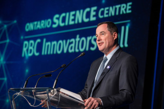 Bruce Ross, Group Head, Technology & Operations, RBC, addressed guests at last evening's RBC Innovators' Ball, stressing the importance of making science education accessible to everyone, regardless of means, for a better future. Now in its ninth year, the RBC Innovators' Ball supports the Ontario Science Centre's industry-leading community access programs. (CNW Group/Ontario Science Centre)
