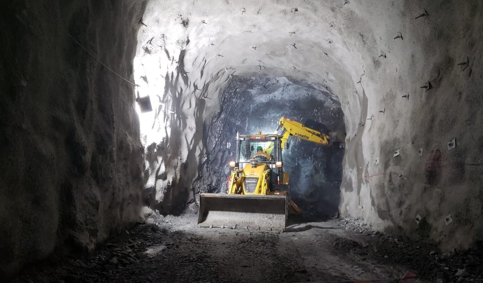 Figure 2. Underground mine development in the Kuri decline