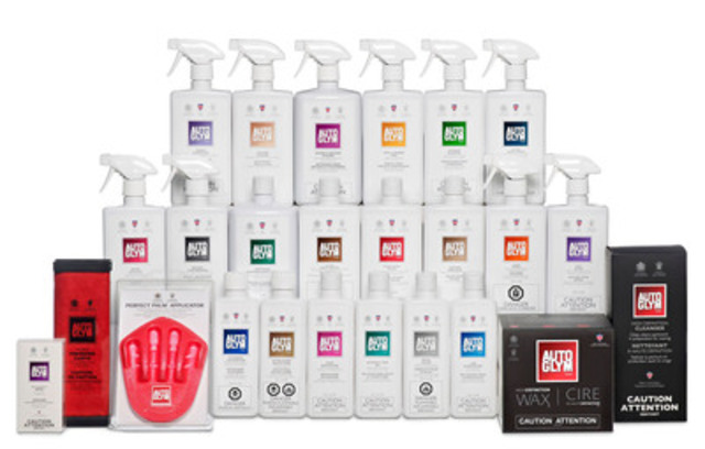 The 2012 Autoglym Product Range in Canada (CNW Group/Autoglym)