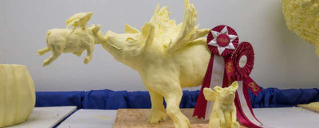 The winning butter sculpture at the 2015 Royal Agricultural Winter Fair. (CNW Group/Royal Agricultural Winter Fair)