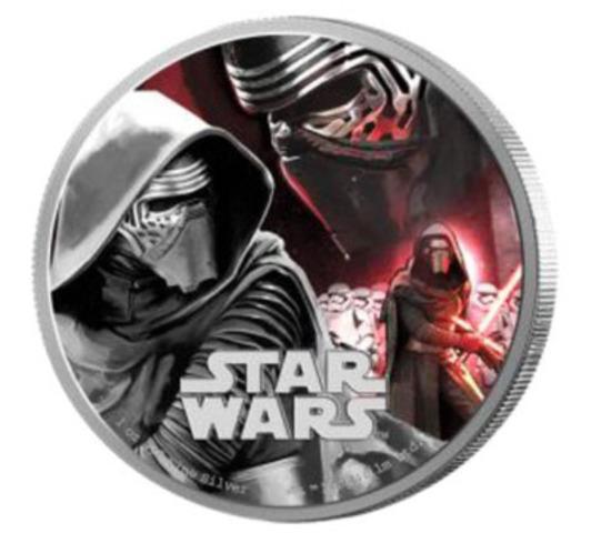 Kylo Ren - Pièce de 1 oz en argent pur représentant le guerrier noir qui fait son apparition dans Star Wars : Le réveil de la force (Groupe CNW/Banque Canadienne Impériale de Commerce)