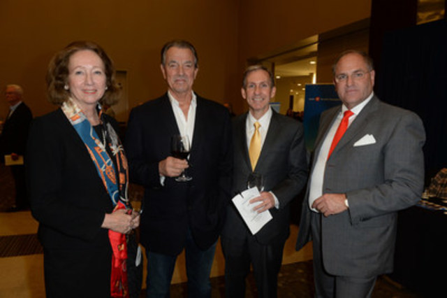 Tennys Hanson, TGWHF President and CEO, Eric Braeden (The Young and Restless) and Dr. Peter Pisters, UHN President and CEO join Todd Halpern, Founder of Grand Cru at the 11th annual Halpern Portfolio Wine Tasting and Grand Cru Live Auction on Thursday, October 29, 2015 at the Allstream Centre. (CNW Group/Toronto General & Western Hospital Foundation)