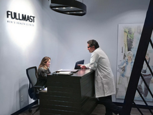 Dr. Ron Mayer, FullMast Men's Health Clinics' CEO and chief medical officer at Sheppard Ave. East and Leslie Street, Toronto. (CNW Group/FullMast Men's Health Clinics)