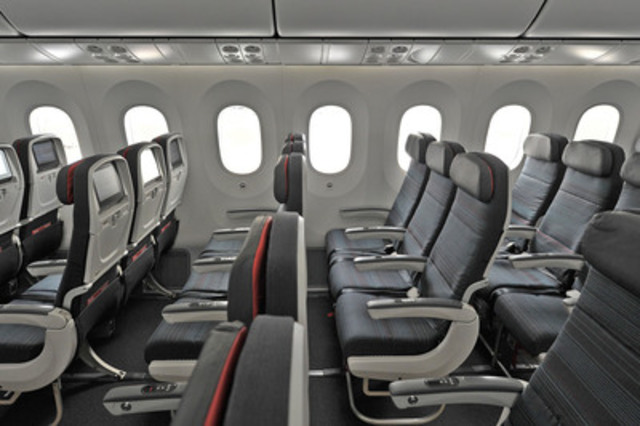 Air Canada's new Economy cabin on the 787 Dreamliner. (CNW Group/Air Canada)