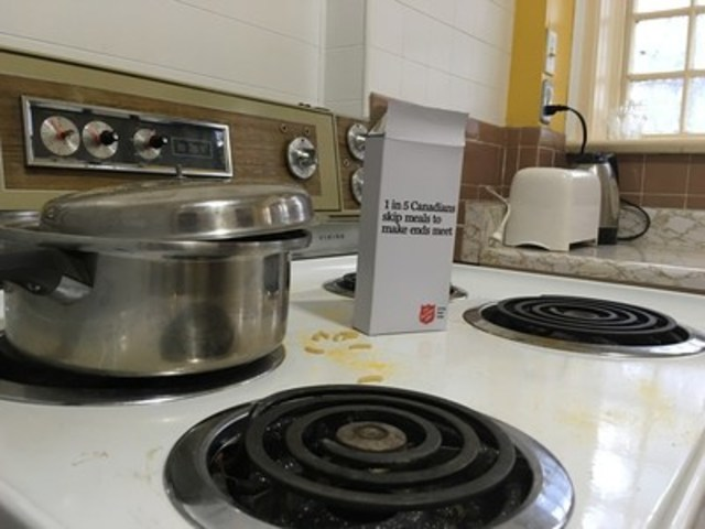 Salvation Army 'Open House' reveals hidden poverty in Canada, noting that one in five Canadians skip meals to make ends meet. (CNW Group/The Salvation Army)