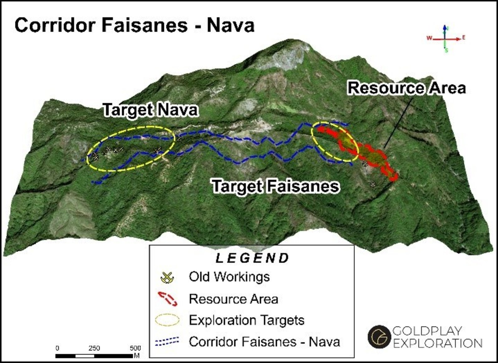 Figure 1 Nava - Location to the west of the San Marcial Resource and the Faisanes Target